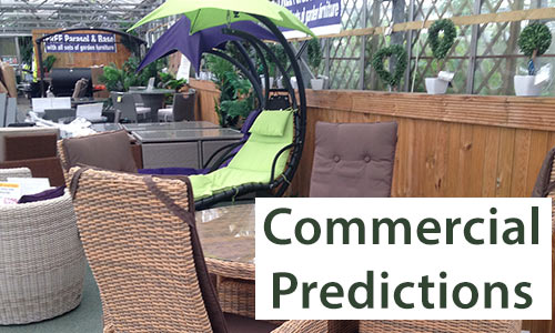 Predictions for the commercial aspect of garden furniture